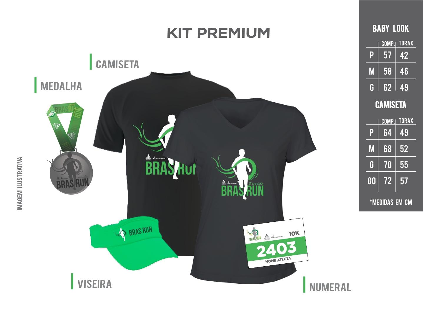 Kits 3ª BrasRun - etapa Braspine