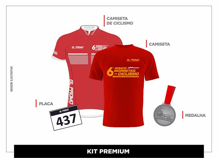 Kits 6º Desafio Morretes de Ciclismo